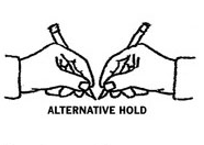 """Illustration for article titled Improve Your Handwriting with an """"Alternative Hold"""""""