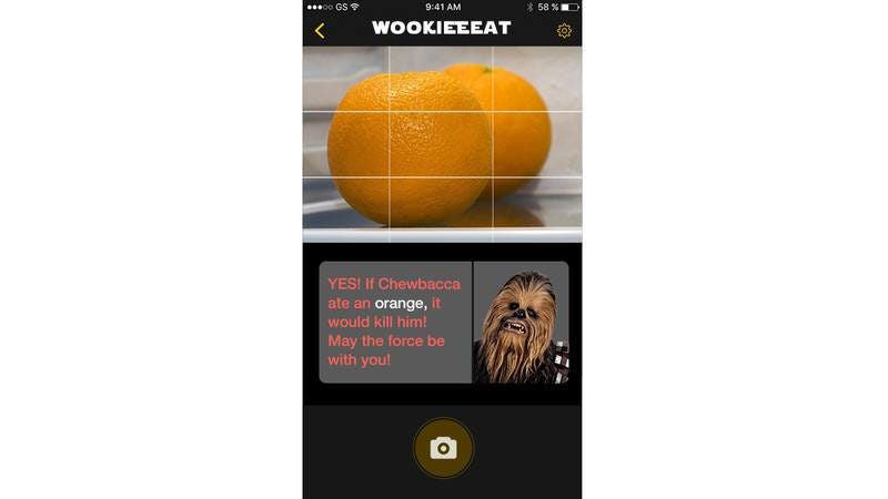 A screenshot from WookieEat.