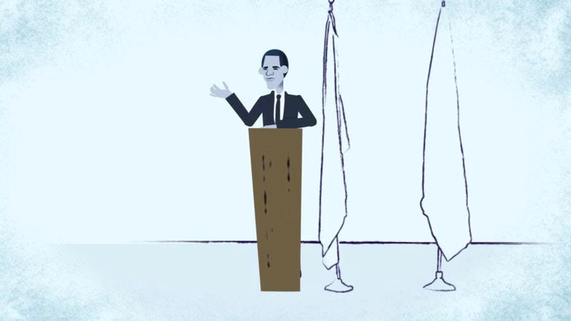 "(Screenshot: ""The Story of an Iconic Obama Campaign Chant, Animated""/The Atlantic)"