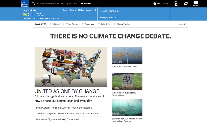 Hello, Weather Channel homepage.