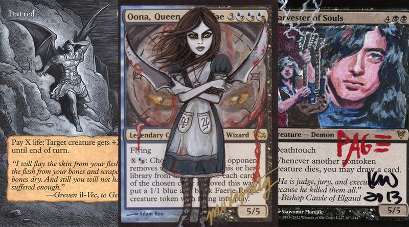 """Illustration for article titled Fan """"Alterists"""" Turn Magic: The Gathering Cards Into Amazing Art"""