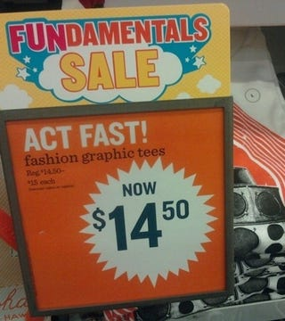 """Illustration for article titled Old Navy Doesn't Understand The Meaning Of """"Sale"""""""