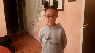 """Kaedyn G. in her """"black brilliance"""" sweatshirtFacebook"""