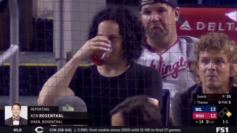 Surly Baseball Fan Jack White Returned To Watch Nationals-Brewers In Extra Innings After Leaving To Play A Concert