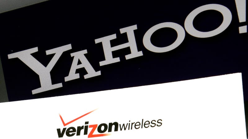 Yahoo and Verizon logos.