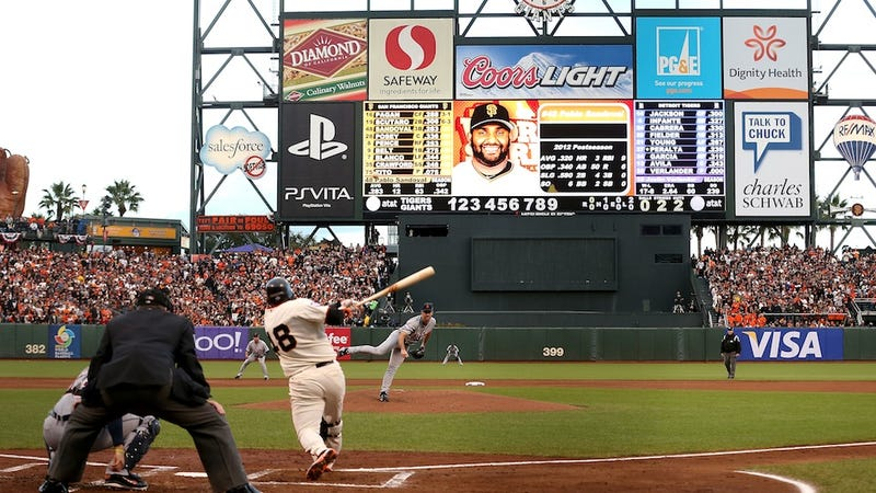 Illustration for article titled Pablo Sandoval Smashed Three Home Runs In His First Three World Series At-Bats Tonight