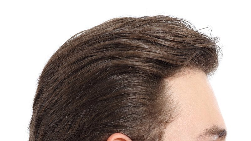 The top of a man's head.