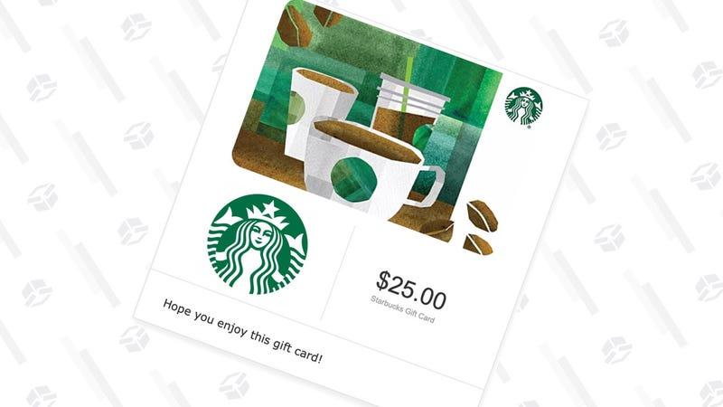 Tarjeta regalo de Starbucks $25 + crédito de $5 en Amazon | $25 | Amazon | Usa el código SBUXGráfico: Shep McAllister
