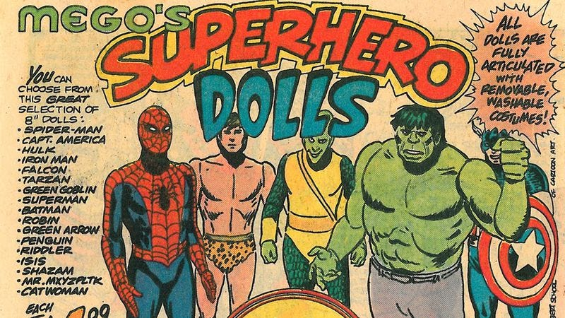 Illustration for article titled Mego ruled the 1970s toy game with Spider-Man, The Fonz, and Ball Buster