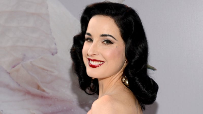 Illustration for article titled Dita Von Teese Is Bewildered by Television