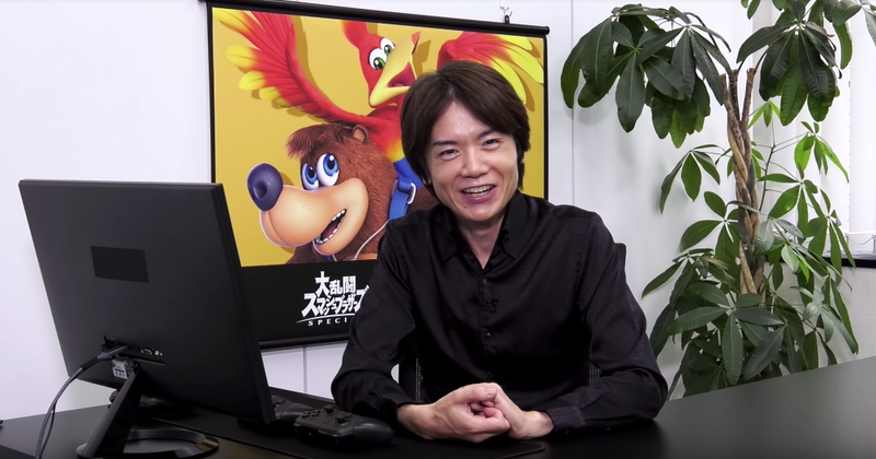 Here is the moment that Sakurai recommended that people play Banjo-Kazooie on Microsoft's hardware.