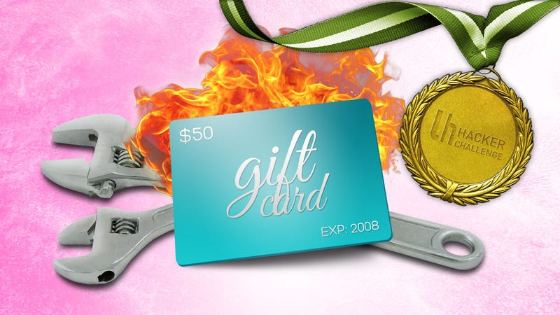 Illustration for article titled MacGyver Challenge: Hack Something Using an Old Gift Card