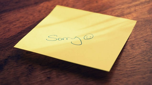 How to Accept an Apology