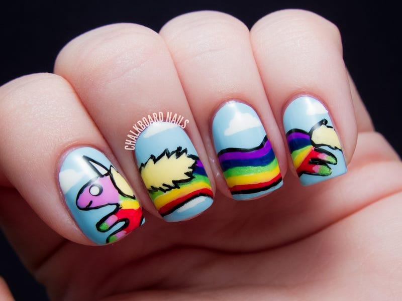 Illustration for article titled For those of you who love nail art AND Adventure Time,