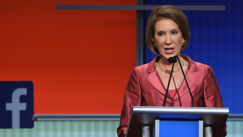 Illustration for article titled Poll Shows Carly Fiorina Won the Second GOP Debate, Trump Still Leads Field