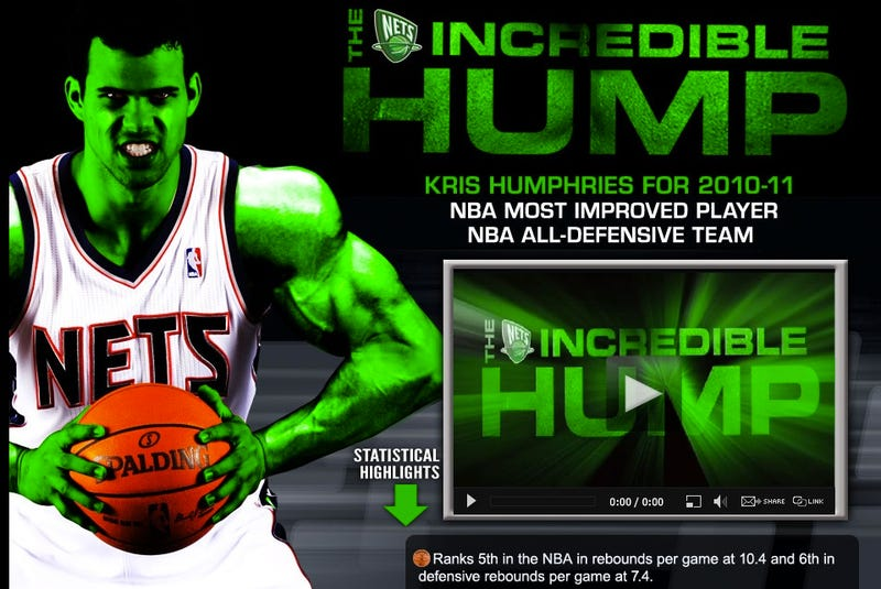 "Illustration for article titled Kris ""The Incredible Hump"" Humphries Would Like You To Vote For Him For Some Things"