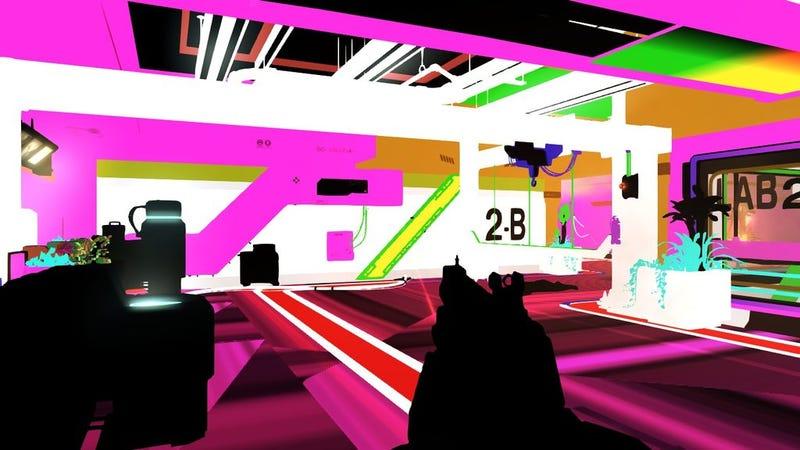 Illustration for article titled A Glitch Turns Deus Ex: Human Revolution into Funktastic Pop Art