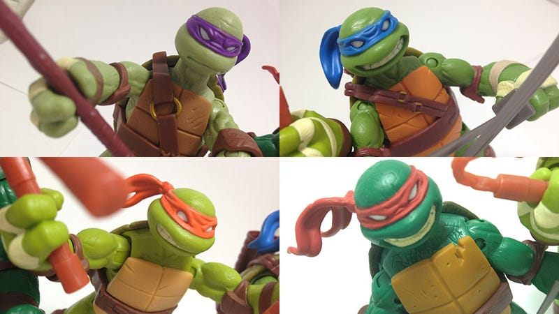 Illustration for article titled These are The Best Teenage Mutant Ninja Turtle Action Figures Ever Made