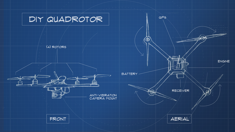 Illustration for article titled Here's Everything You Need to Build Your Very Own Quadrotor
