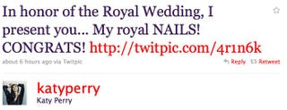 Illustration for article titled Katy Perry Gets Royal Wedding Manicure