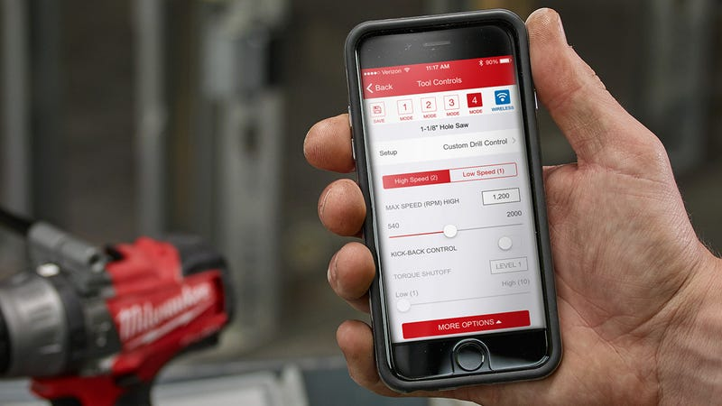Illustration for article titled You Can Now Customize the Performance of Milwaukee Power Tools Through an App