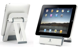 Illustration for article titled Griffin A-Frame iPad Dock Won't Block Your Music