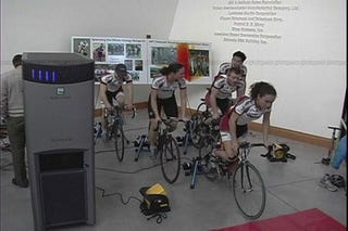 Illustration for article titled MIT Cyclists Set Record for Pedal-Powered Supercomputing
