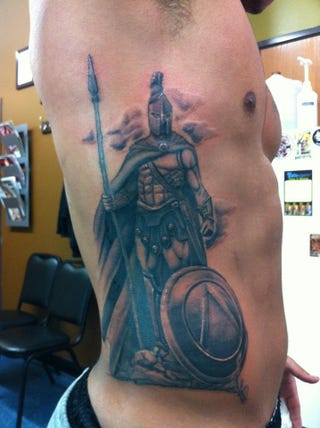 Illustration for article titled That Is One Huge-Ass Spartan Tattoo, MSU Redshirt Freshman Special Teamer