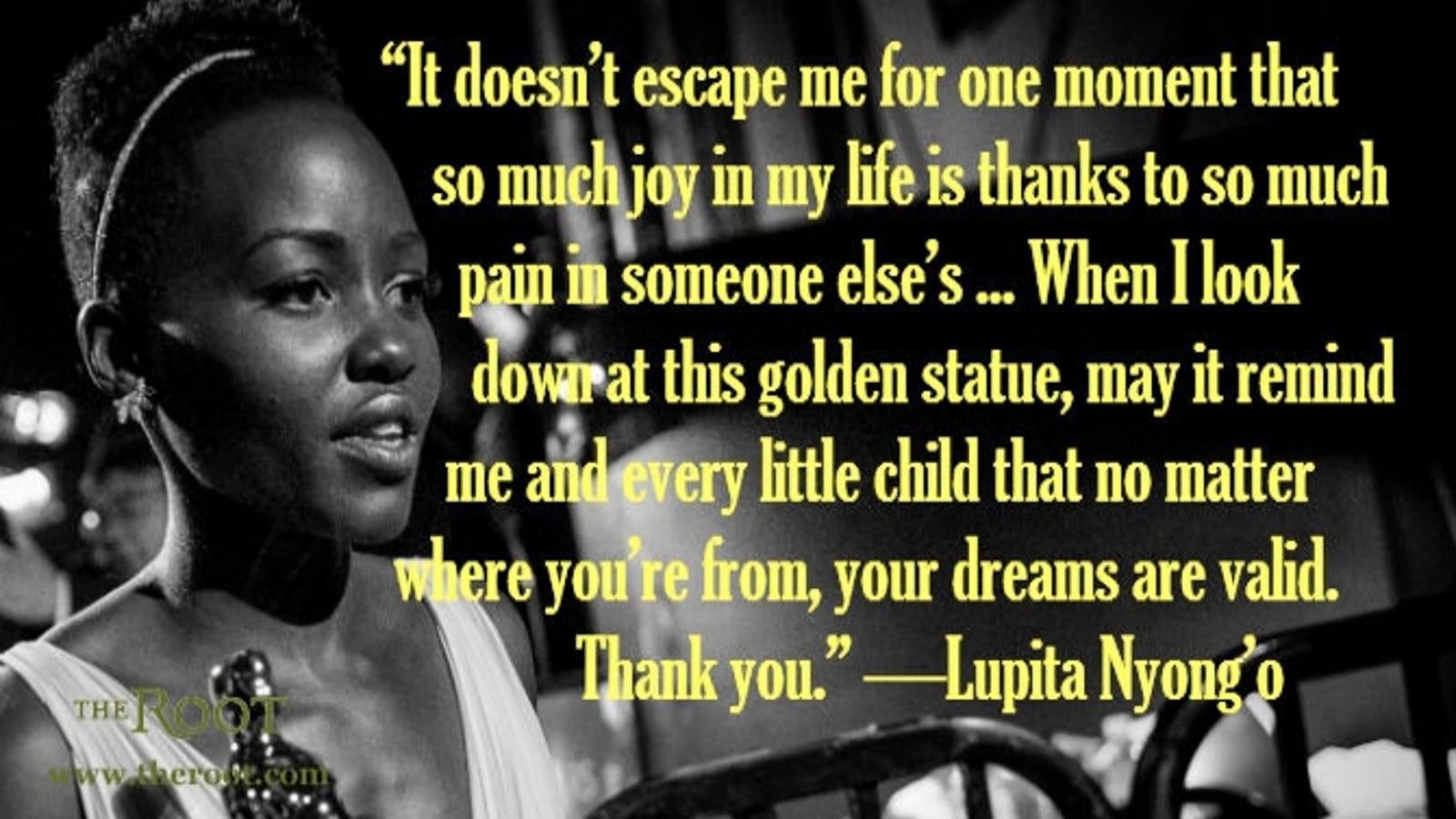 Look - Nyongo Lupita oscars speech pictures video