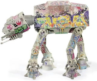 Illustration for article titled Graffiti'ed AT-AT Walker Up For Grabs at Christie's Auction