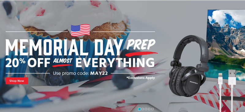 20% off Almost Everything | Monoprice | Promo code MAY22