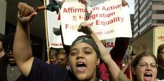 A demonstration in support of affirmative action (Getty Images)