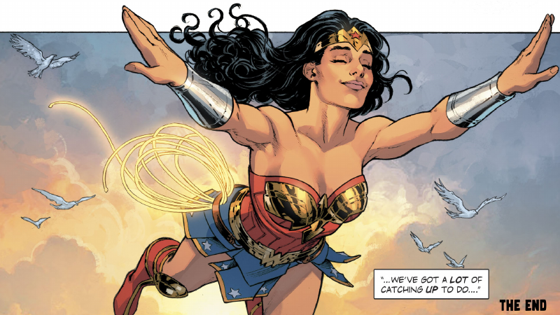 Image: DC Comics. Art from Wonder Woman Annual #1 by Nicola Scott, Romulo Fajardo Jr, and Jodi Wynne