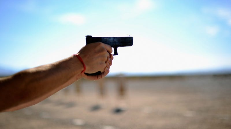 File photo of a Glock being fired at a gun range