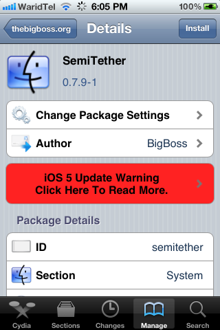 Illustration for article titled SemiTether Makes Tethered iOS 5 Jailbreaks Rebootable Without a Computer