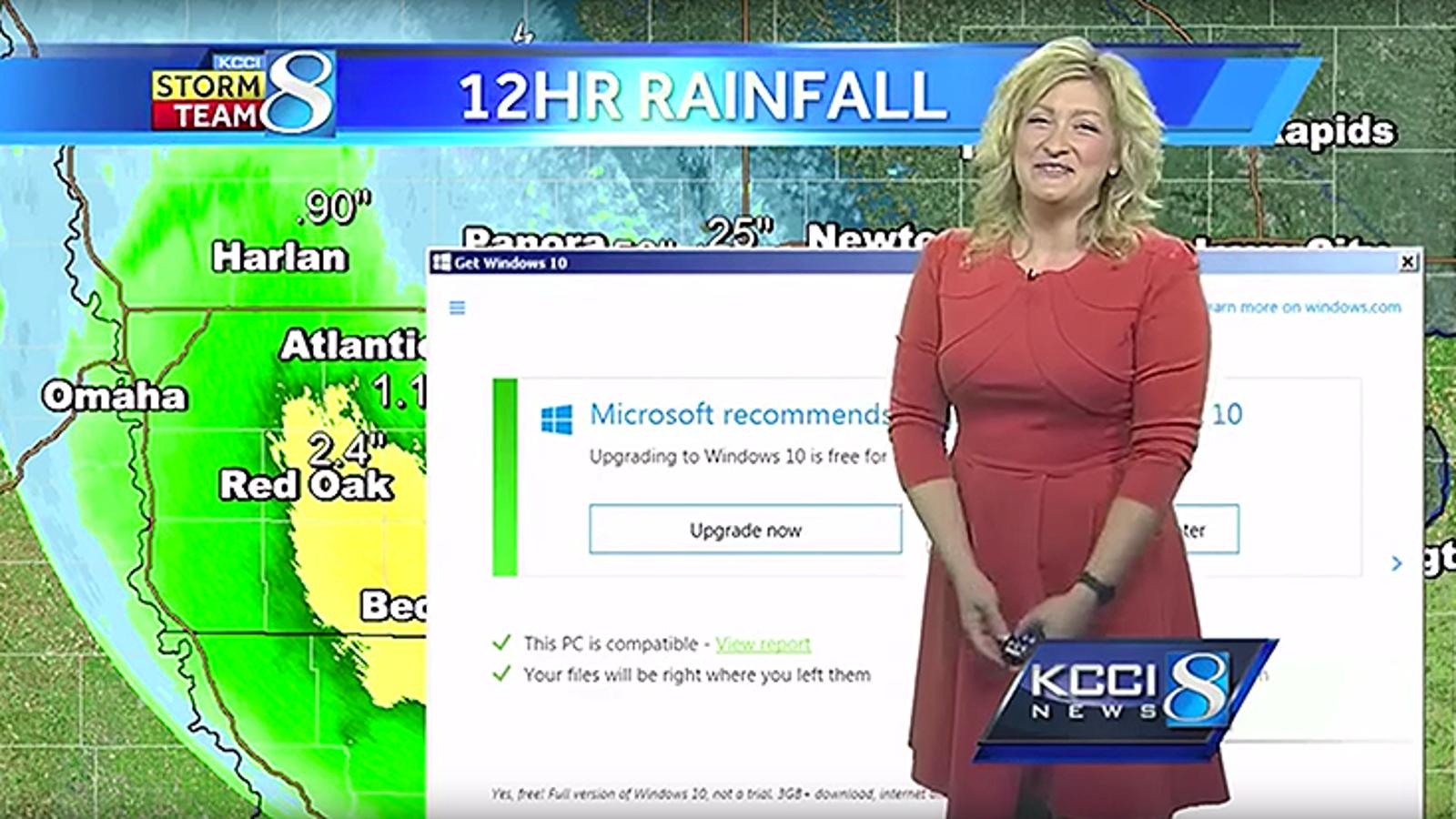 La mejor muestra de los absurdos avisos para actualizar Windows es este parte meteorológico