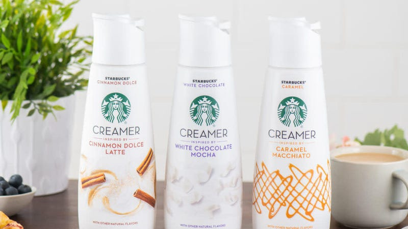 Illustration for article titled Starbucks launches coffee creamers so your coffee can taste like it's $6