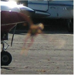 """Illustration for article titled Mysterious, Ultra-Fast """"Flying Entity"""" Photographed in Argentinian Airport"""