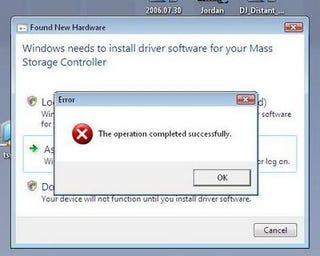 Illustration for article titled Windows Vista Error?