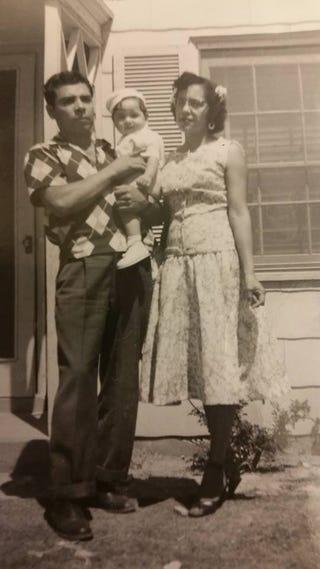 Grandpa, Dad, and Grandma