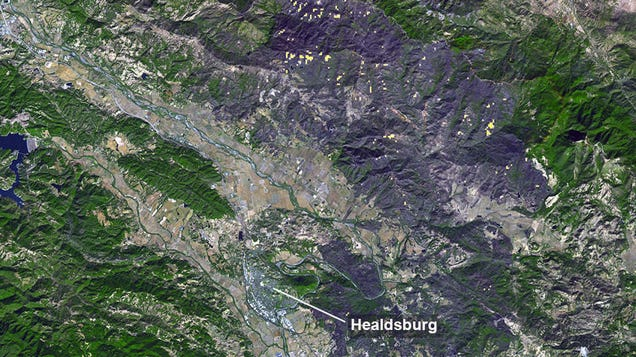 Satellite Captures Awful Scar Left by California's Historic Kincade Fire