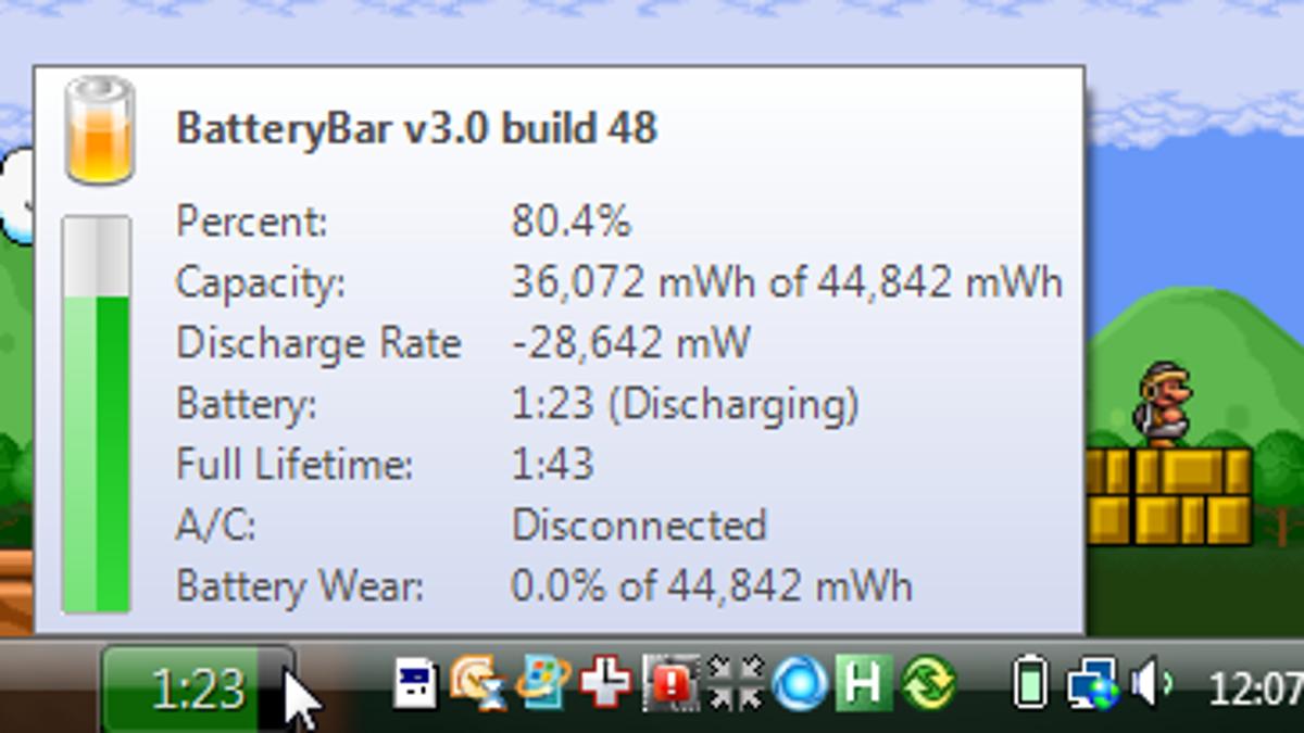 Batterybar Adds A Power Meter To The Taskbar 4 Way Switch Grainger
