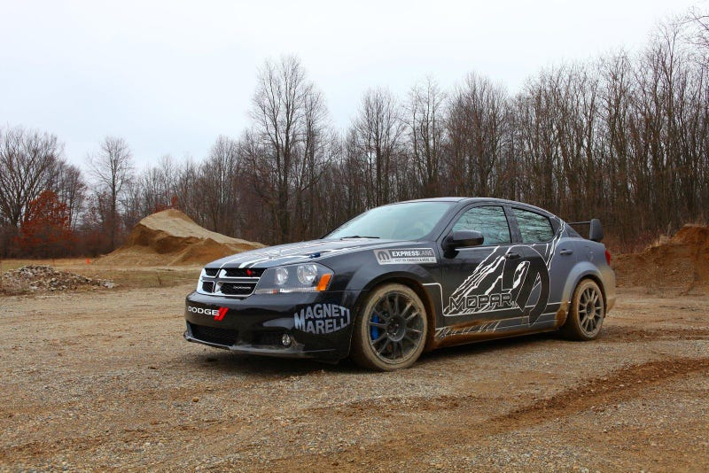 Illustration for article titled Remember the time Dodge made an Avenger rally car.