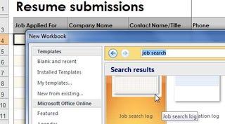 job search log excel