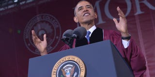 President Barack Obama at Morehouse College's commencement cermony (Mandel Ngan/Getty Images)