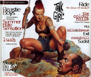 Illustration for article titled Tank Girl Wants To Dominate Your Coffee Table