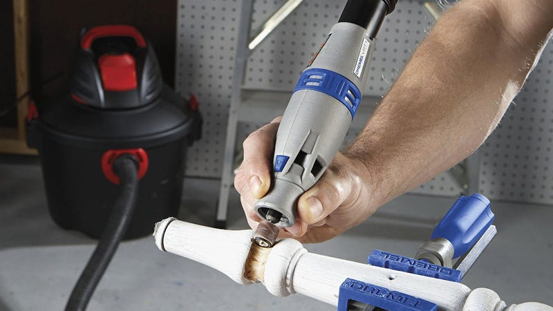 Illustration for article titled Dremel's New Rotary Tool Is Cheap Because It's Powered by Your Vacuum Cleaner