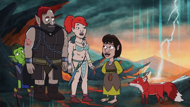 Illustration for article titled Kate Micucci desperately tries to fit in with the rest of HarmonQuest in this exclusive clip