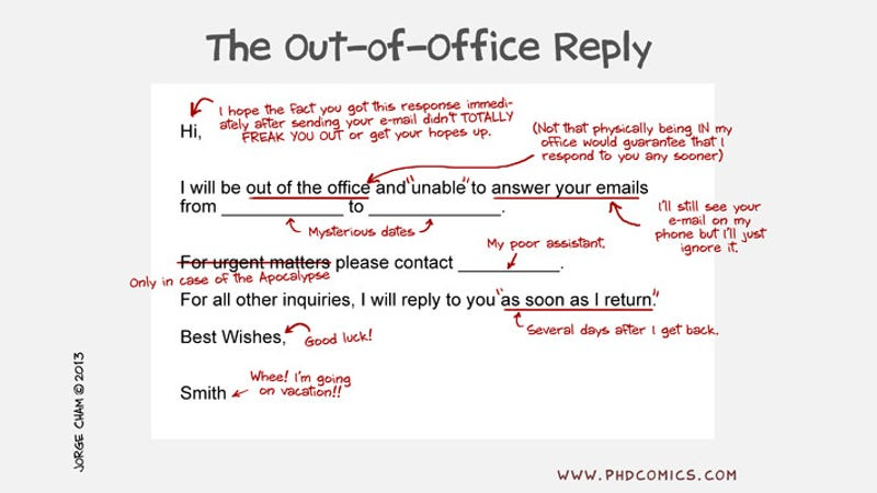 What The Out Of Office Reply Really Means