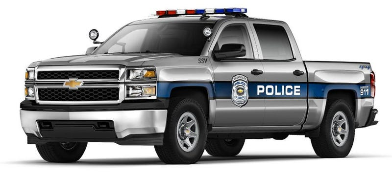 Illustration for article titled 2015 Chevrolet Silverado Could Be Your Town's Next Cop Car